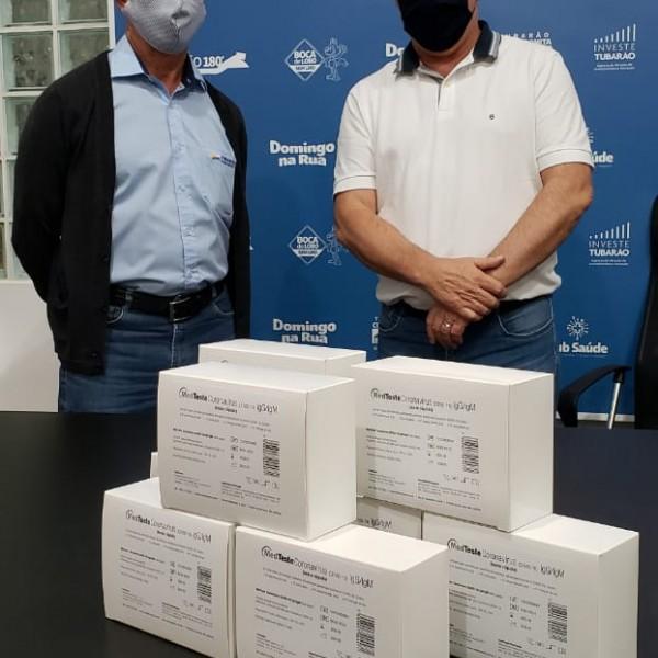 Tubarão Saneamento faz doação de testes rápidos ao município