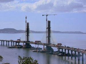 Segundo o representante do Dnit, as obras da ponte prosseguem dentro do cronograma - Foto:Julio Knoll/Divulgação/Notisul