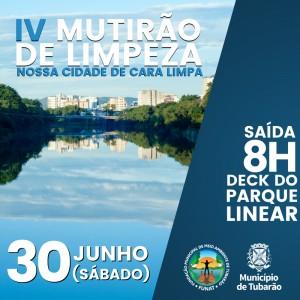 Mutirão de limpeza do Rio Tubarão será neste sábado (30)