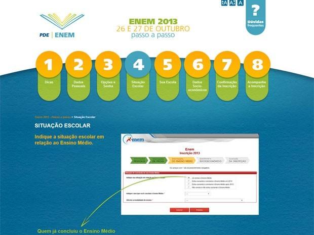 MEC cria site com o passo a passo para a inscrição no Enem 2013