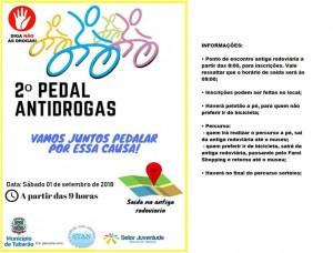 2º Pedal Antidrogas é neste sábado (1º)