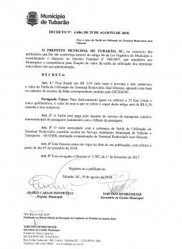 Decreto Nº 4.406, de 29 de agosto de 2018