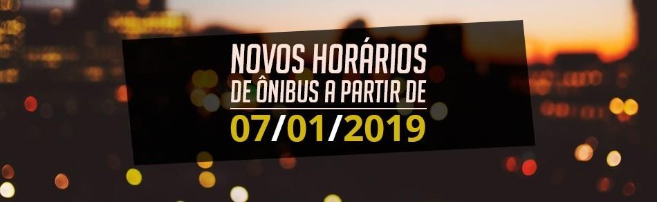 Novos Horários 2019